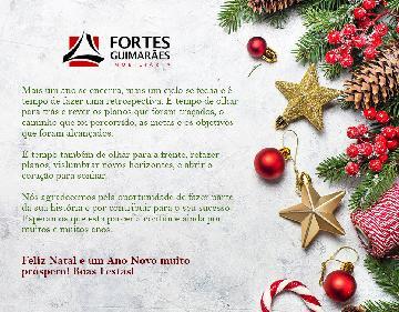 Feliz Natal e um Ano Novo muito próspero! Boas Festas!