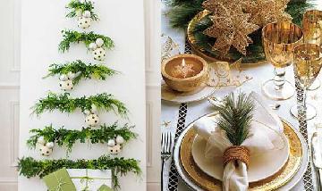 Inspiração: decoração de Natal greenery