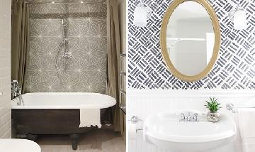 Veja como usar papel de parede no banheiro!