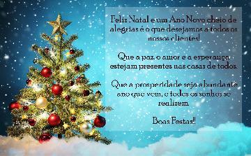 Feliz Natal e um prospero Ano Novo!
